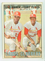 1967 Topps Baseball 63 Cards Clubbers St. Louis Cardinals Fair to Good