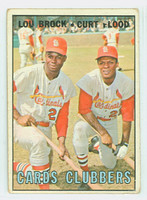 1967 Topps Baseball 63 Cards Clubbers St. Louis Cardinals Good to Very Good