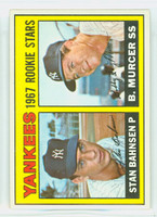 1967 Topps Baseball 93 Yankees Rookies Excellent