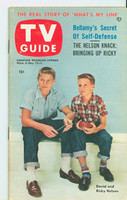 1953 TV Guide May 15 Ricky Nelson and David Nelson of Ozzie and Harriet Chicago edition Excellent to Mint - No Mailing Label  [Very lt toning on cover, ow very clean]