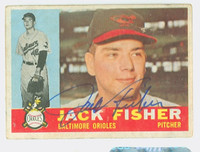 Jack Fisher AUTOGRAPH 1960 Topps #46 Orioles CARD IS F/G; LT CREASES, AUTO CLEAN  [SKU:FishJ1734_T60BBcc]