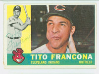 Tito Francona AUTOGRAPH d.18 1960 Topps #30 Indians CARD IS G/VG; SL CRN CREASE  [SKU:FranT1716_T60BBcc]