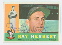 Ray Herbert AUTOGRAPH 1960 Topps #252 Athletics CARD IS CLEAN VG/EX  [SKU:HerbR408_T60BBcc2]