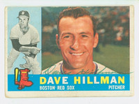 Dave Hillman AUTOGRAPH 1960 Topps #68 Red Sox CARD IS F/G; LT CREASES, AUTO CLEAN  [SKU:HillD4696_T60BBcc]