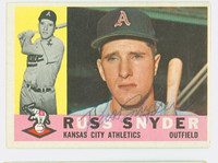 Russ Snyder AUTOGRAPH 1960 Topps #81 Athletics CARD IS SHARP EX  [SKU:SnydR1377_T60BBcc]