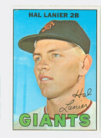 1967 Topps Baseball 4 Hal Lanier San Francisco Giants Near-Mint to Mint