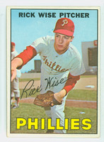 1967 Topps Baseball 37 Rick Wise Philadelphia Phillies Near-Mint to Mint