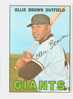 1967 Topps Baseball 83 Ollie Brown San Francisco Giants Near-Mint to Mint