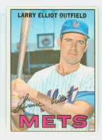 1967 Topps Baseball 23 Larry Elliot New York Mets Near-Mint Plus