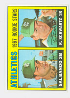 1967 Topps Baseball 33 Athletics Rookies Near-Mint Plus
