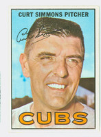 1967 Topps Baseball 39 Curt Simmons Chicago Cubs Near-Mint Plus