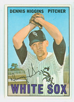 1967 Topps Baseball 52 Dennis Higgins Chicago White Sox Near-Mint Plus