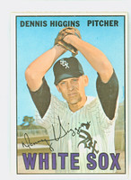1967 Topps Baseball 52 Dennis Higgins Chicago White Sox Near-Mint