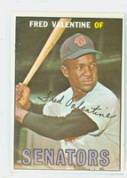 1967 Topps Baseball 64 Fred Valentine Washington Senators Near-Mint