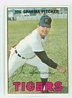 1967 Topps Baseball 13 Joe Sparma Detroit Tigers Excellent to Mint