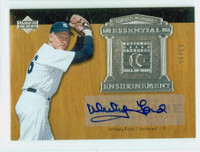 Whitey Ford AUTOGRAPH 2005 Upper Deck WF1 Essential Enshrinement Yankees CERTIFIED 