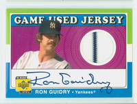 Ron Guidry AUTOGRAPH 2001 Upper Deck RG Game-Used Jersey Yankees CERTIFIED 