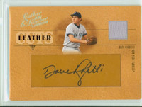 Dave Righetti AUTOGRAPH 2005 Donruss Leather Cuts Jersey /48 Yankees CERTIFIED 