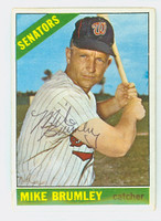 Mike Brumley AUTOGRAPH d.16 1966 Topps #29 Senators CARD IS VG; AUTO CLEAN