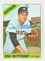 Don Nottebart AUTOGRAPH d.07 1966 Topps #21 Astros CARD IS G/VG; LT CREASE, AUTO CLEAN