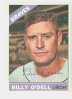 Billy O' Dell AUTOGRAPH d.18 1966 Topps #237 Braves CARD IS VG/EX; AUTO CLEAN  [SKU:ODelB1849_T66BBCOM]
