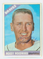 Woody Woodward AUTOGRAPH 1966 Topps #49 Braves CARD IS G/VG; CRN DING