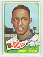 Lenny Green AUTOGRAPH 1965 Topps #588 HIGH NUMBER Red Sox CARD IS VG/EX; AUTO CLEAN  [SKU:GreeL717_T65BBCOM]