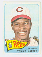Tommy Harper AUTOGRAPH 1965 Topps #47 Reds CARD IS VG/EX; AUTO CLEAN  [SKU:HarpT1367_T65BBCOM]
