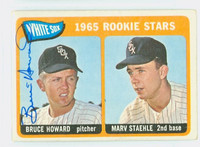 Bruce Howard AUTOGRAPH 1965 Topps #41 White Sox Rookies CARD IS F/G; CREASE
