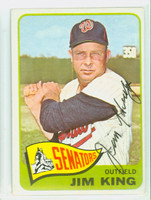 Jim King AUTOGRAPH d.15 1965 Topps #38 Senators CARD IS VG; AUTO CLEAN