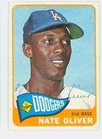 Nate Oliver AUTOGRAPH 1965 Topps #59 Dodgers CARD IS VG; AUTO CLEAN  [SKU:OlivN909_T65BBCOM]