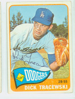 Dick Tracewski AUTOGRAPH 1965 Topps #279 Dodgers CARD IS VG; AUTO CLEAN