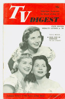 1951 TV Digest May 19 Fontane Sisters of the Perry Como Show (32 pgs) Pennsylvania State edition Very Good  [Lt toning along binding; ow clean, label stamped on reverse]