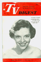 1951 TV Digest August 25 Betty Ann Grove (32 pgs) Philadelphia edition Good to Very Good - No Mailing Label  [Lt wear on cover, 2 hole punched throughout; contents ow fine]