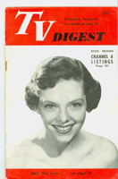 1951 TV Digest August 25 Betty Ann Grove (32 pgs) Philadelphia edition Very Good  [Lt toning along binding; staple rust, label stamped on reverse]