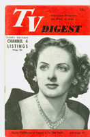 1951 TV Digest September 1 Eloise McElhone of Leave it To the Girls (32 pgs) Pennsylvania State edition Excellent  [Lt toning along binding; ow clean, label stamped on reverse]
