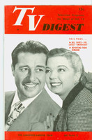 1951 TV Digest October 13 Frances Langford and Don Ameche (40 pgs) Philadelphia edition Very Good to Excellent  [Lt wear on cover, ow clean; label stamped on reverse]