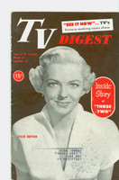 1952 TV Digest January 19 Vivian Blaine of Those Two (40 pgs) Pennsylvania State edition Excellent  [Lt wear on cover, ow clean; label stamped on front and reverse]
