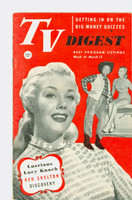 1952 TV Digest March 15 Lucy Knoch (40 pgs) Philadelphia edition Excellent - No Mailing Label  [Lt wear and small stain on cover, ow clean]