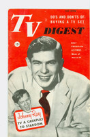 1952 TV Digest March 22 Johnny Ray (40 pgs) Pennsylvania State edition Very Good to Excellent  [Lt wear on cover, ow clean; label stamped on reverse]