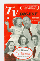 1952 TV Digest March 29 TV Teens (40 pgs) Pennsylvania State edition Very Good to Excellent  [Lt wear on cover, ow clean; label stamped on reverse]