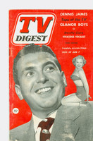 1952 TV Digest June 7 Dennis James (40 pgs) Pennsylvania State edition Very Good  [Wear on cover, label stamped on reverse; contents fine]