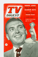 1952 TV Digest June 7 Dennis James (40 pgs) Delaware edition Very Good to Excellent  [Lt wear on cover, ow clean; label stamped on reverse]