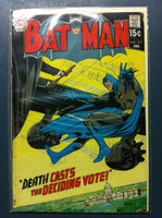 BATMAN #219 Death Casts the Deciding Vote Feb 70 Very Good to Fine Wear on cover, contents fine