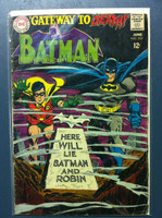 BATMAN #202 Gateway to Death Jun 68 Good Heavy wear, scuffing and creasing on cover, contents fine
