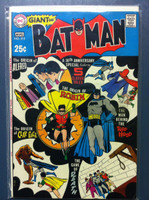 BATMAN #213 30th Anniversary Special (Giant - 80 pgs) Aug 69 Very Good to Fine Lt wear, ow clean