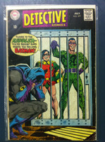 DETECTIVE COMICS ft: BATMAN & ROBIN #377 The Riddler's Prison-Puzzle Problem Jul 68 Very Good Wear on cover, creasing, wear along binding; contents fine