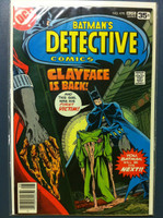 DETECTIVE COMICS ft: BATMAN & ROBIN #478 The Coming of … Clayface III Aug 78 Fine to Very Fine