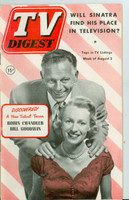 1952 TV Digest August 2 Robin Chandler and Bill Goodwin (40 pgs) Philadelphia edition Very Good to Excellent  [Sl bend along binding; label stamped on reverse]
