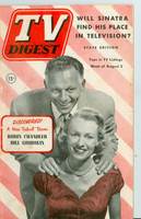 1952 TV Digest August 2 Robin Chandler and Bill Goodwin (40 pgs) Pennsylvania State edition Very Good  [Wear and lt staining on cover, label stamped on reverse; contents fine]